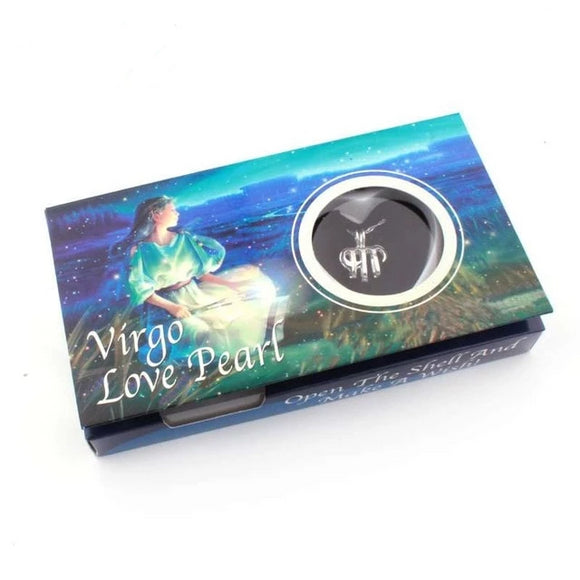 Virgo Zodiac Love Pearl Wish Box Gifts for Women gift for her authentic oyster pearl necklace christmas gift
