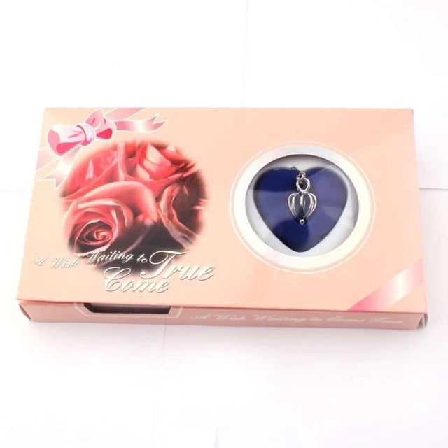 Pink Rose Love Pearl Wish Box Gifts for Women gift for her authentic oyster pearl necklace christmas gift