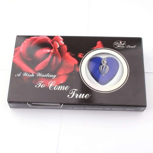 Red Rose Love Pearl Wish Box Gifts for Women gift for her authentic oyster pearl necklace christmas gift