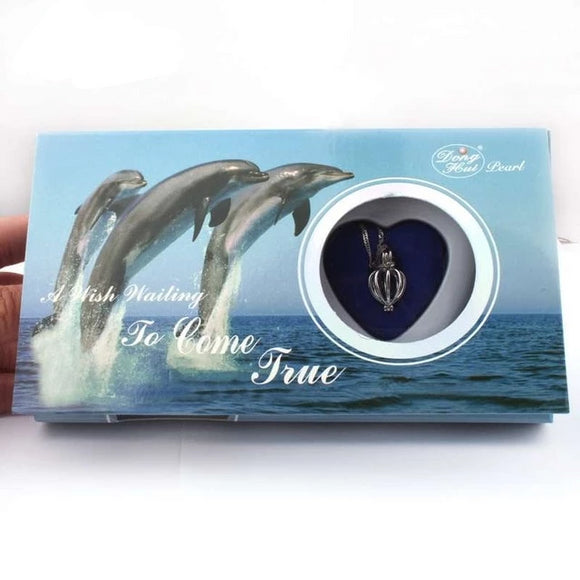 Dolphin Love Pearl Wish Box Gifts for Women gift for her authentic oyster pearl necklace christmas gift