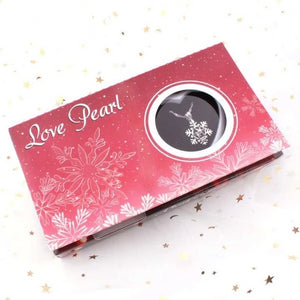 Snowflake Love Pearl Wish Box Gifts for Women gift for her authentic oyster pearl necklace christmas gift