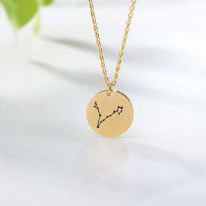 Twelve Constellations Charms Necklace Leo Aries Taurus Gemini Cancer Virgo Libra Scorpio Sagittarius Capricorn Aquarius Pisces