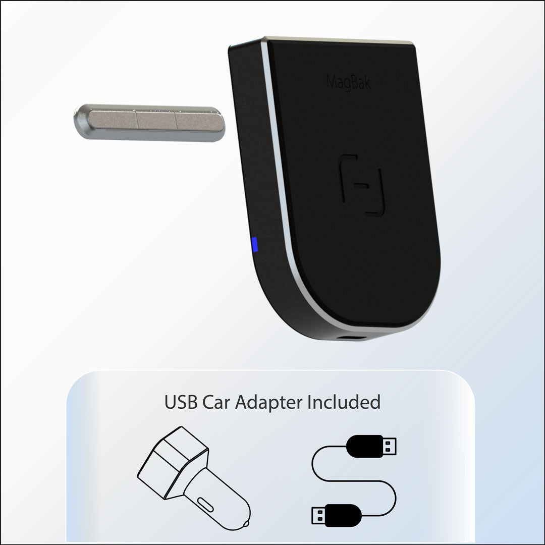 MagBak Wireless Charger - USB Car Adapter Included