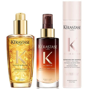 KÉRASTASE All Hair Types - Day, Night and Next Day Hair Care Set