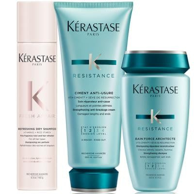 KÉRASTASE Force Architecte Damaged Hair Fresh Affair Dry Shampoo Hair Care Set