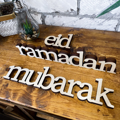 Ramadan & Eid Mubarak (STANDS) - 3 PC SET - lowercase