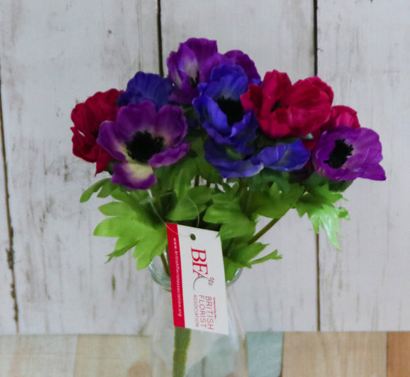 <造花>アネモネ - ANEMONE BUSH PURPLE