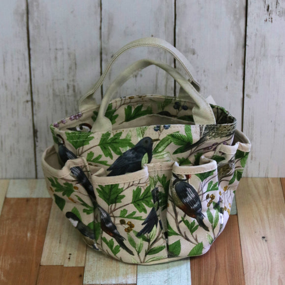 Gisela Graham ガーデンバッグ GARDEN BIRDS COTTON GARDENING BAG