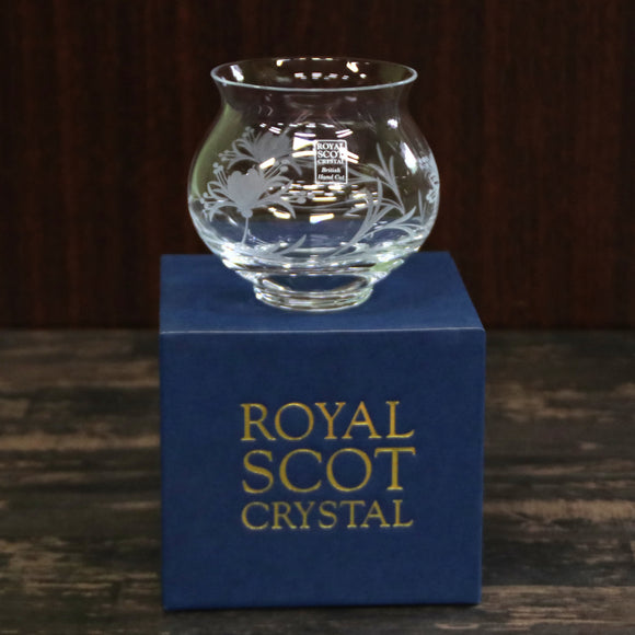 Royal Scotクリスタル - ENCHANTED GARDEN Honeysuckle Votive Bowl (boxed)