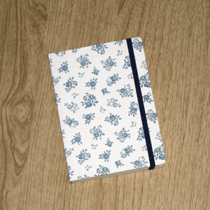 SHROPSHIRE ROSE A6 NOTEBOOK DARK BLUE ON CREAM