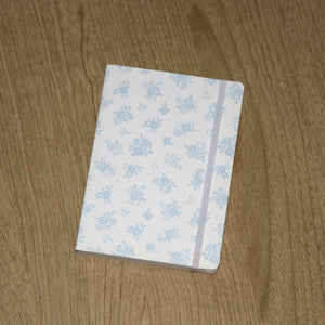 SHROPSHIRE ROSE A6 NOTEBOOK LIGHT BLUE ON CREAM