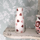 Pink Hearts Small Milk Bottle