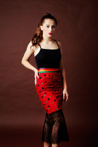 Festive Red Polka Dot Skirt