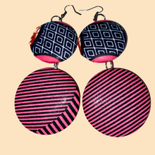 Load image into Gallery viewer, African Print Round Earrings