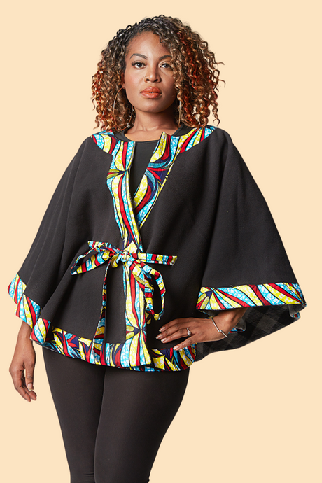 Reversible Winter Cape - Wave