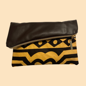 Fold Over Clutch - Brown Samakaka