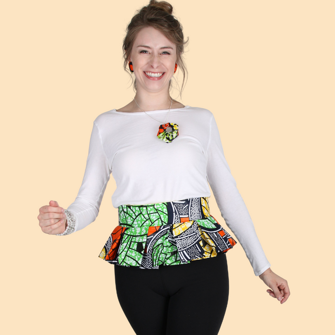 Pleated Belt - Multicolor