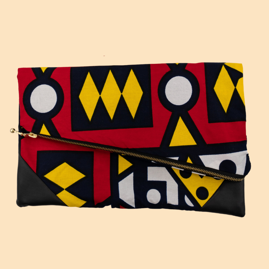 Fold Over Clutch - Red Samakaka