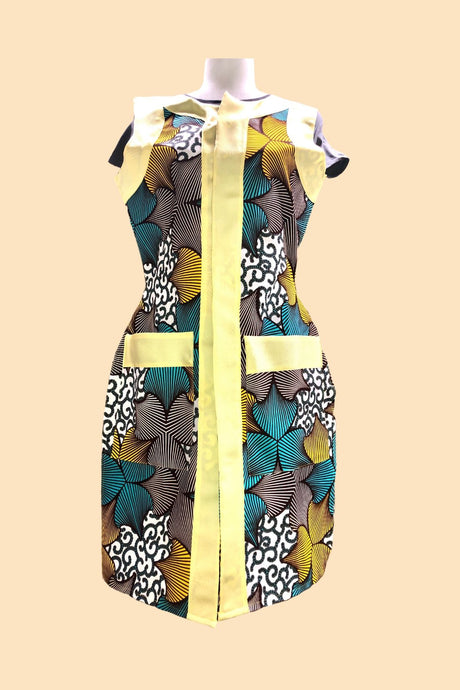 Adie Long Sleeveless Blazer in Yellow
