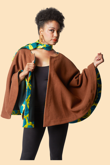 Reversible Winter Cape - Green