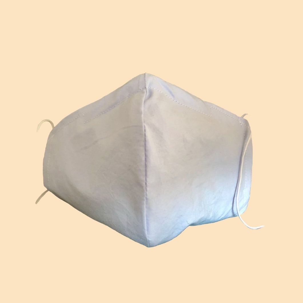 Cloth Face Mask with filter Sky Blue - Adult Size