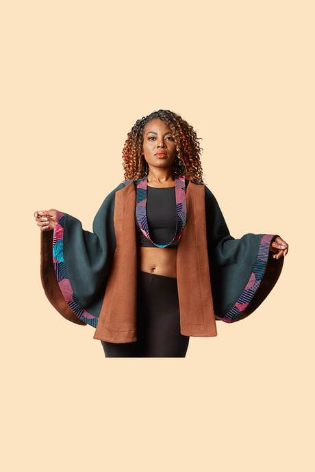 Reversible Winter Cape - Pink