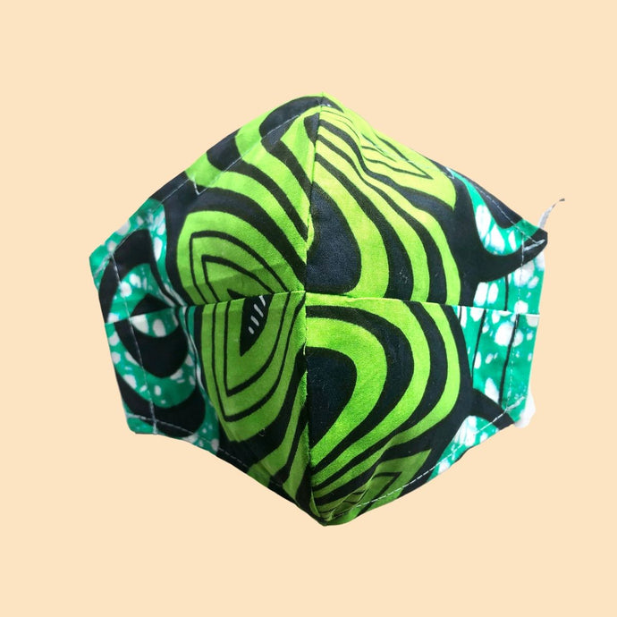 Cloth Face Mask with filter Green - Adult Size