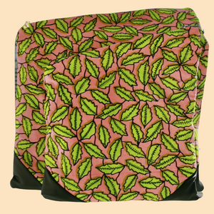 Lea Fold Over Clutch - Leaves