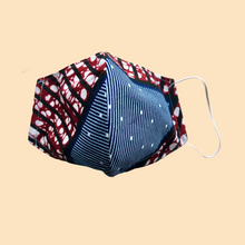 Load image into Gallery viewer, Cloth Face Mask with filter Blue/Red - Adult