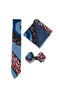 Luxury Men Tie Set in Deep Blue