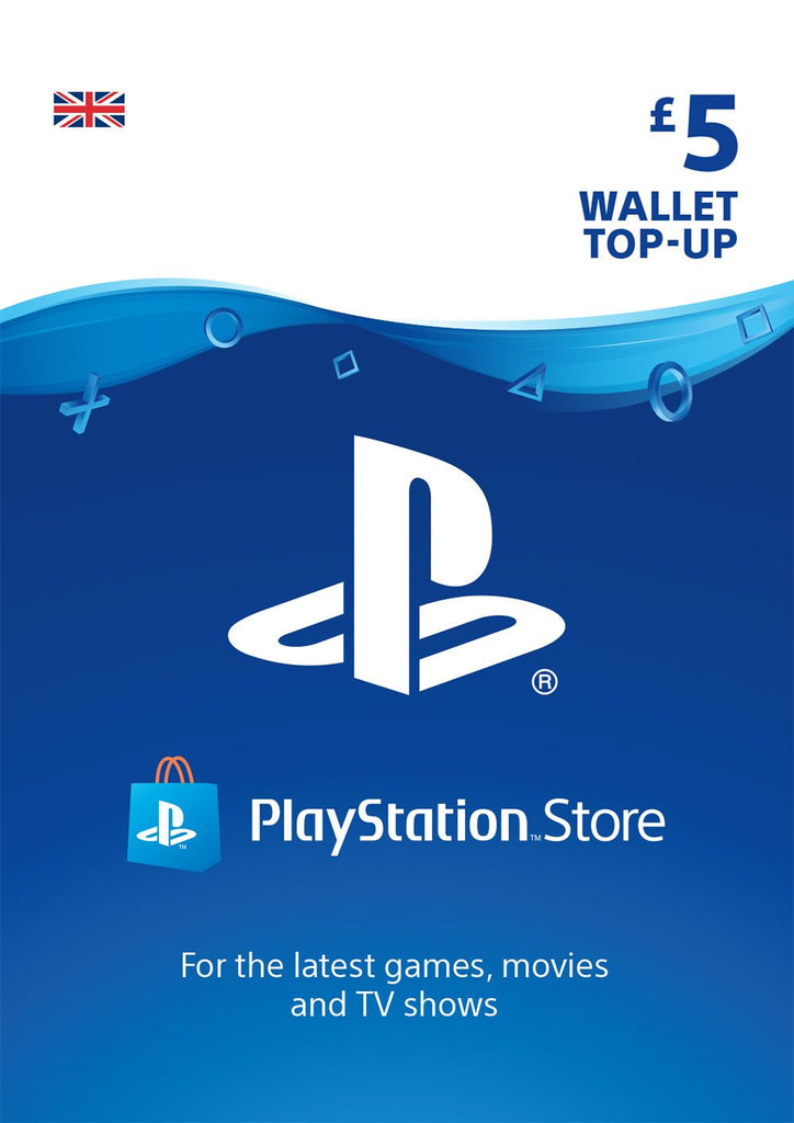 PSN £5.00 Wallet Top Up