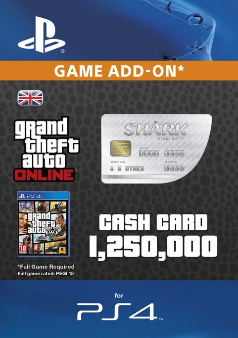 GTA - Great White Shark Cash Card PS4
