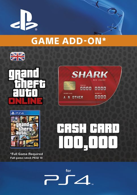 GTA - Red Shark Cash PS4