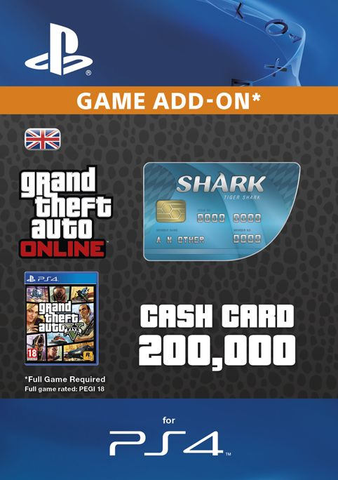 GTA - Tiger Shark Cash Card PS4