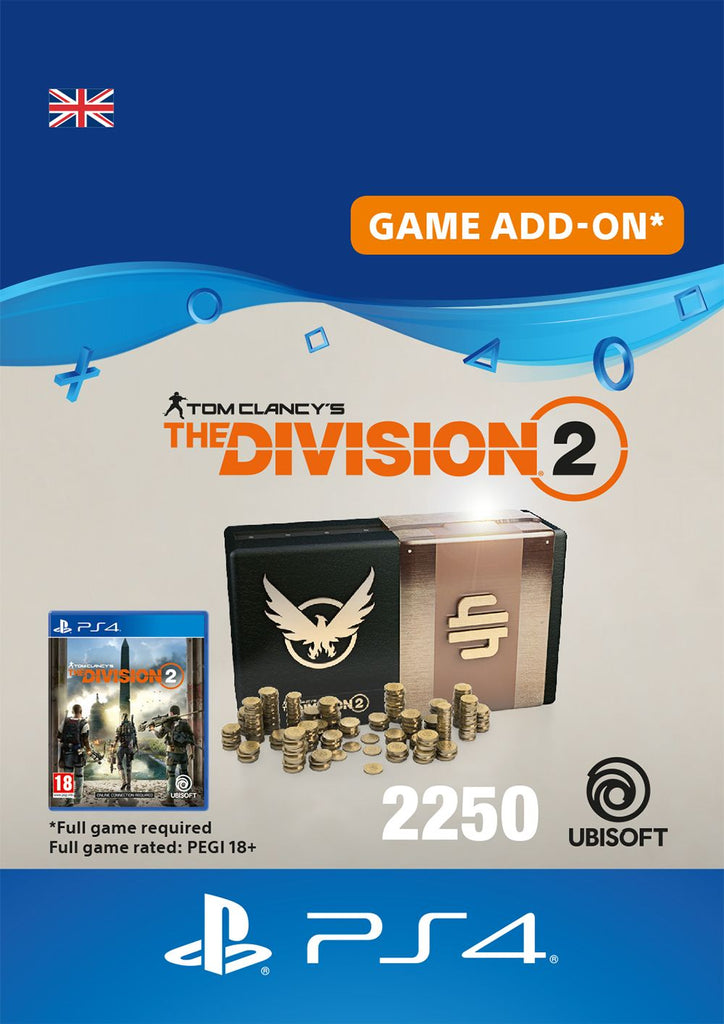 Tom Clancys The Division 2 2250 Premium Credits Pack