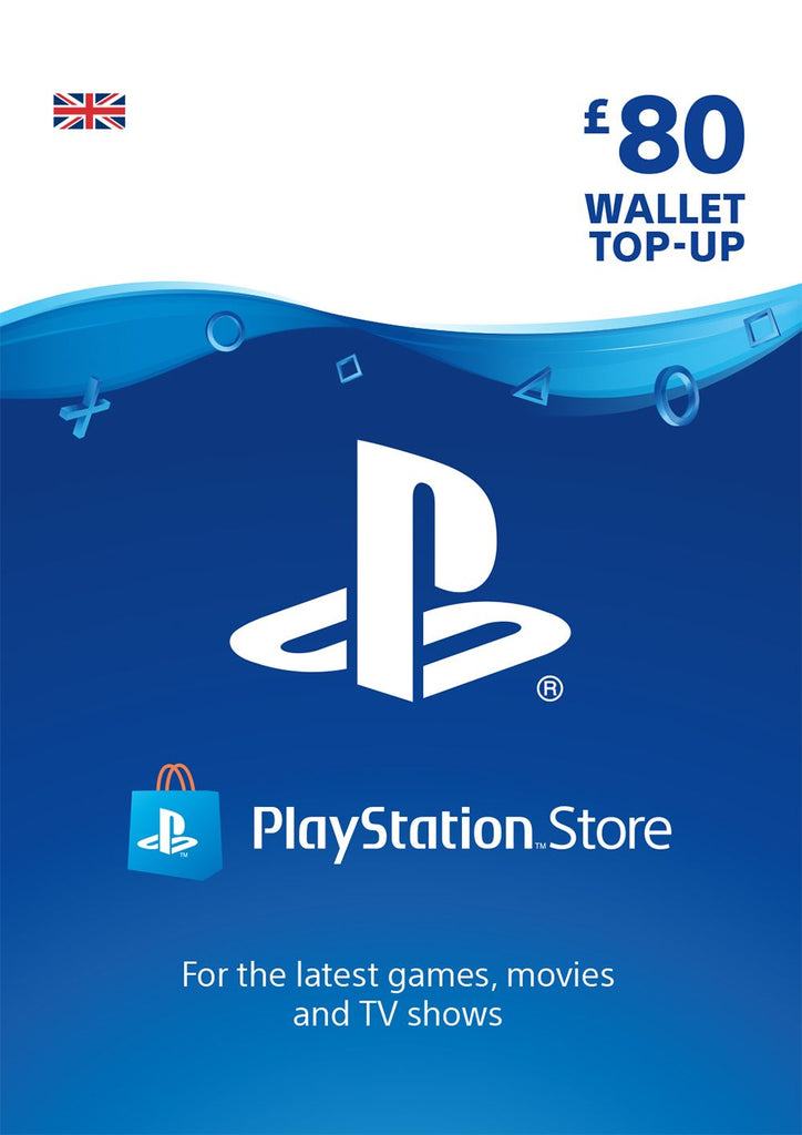 PSN £80.00 Wallet Top Up