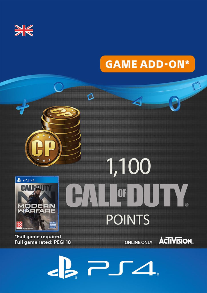 1,100 Call of Duty Modern Warfare Points