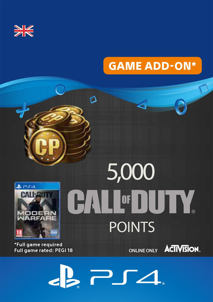 5,000 Call of Duty Modern Warfare Points
