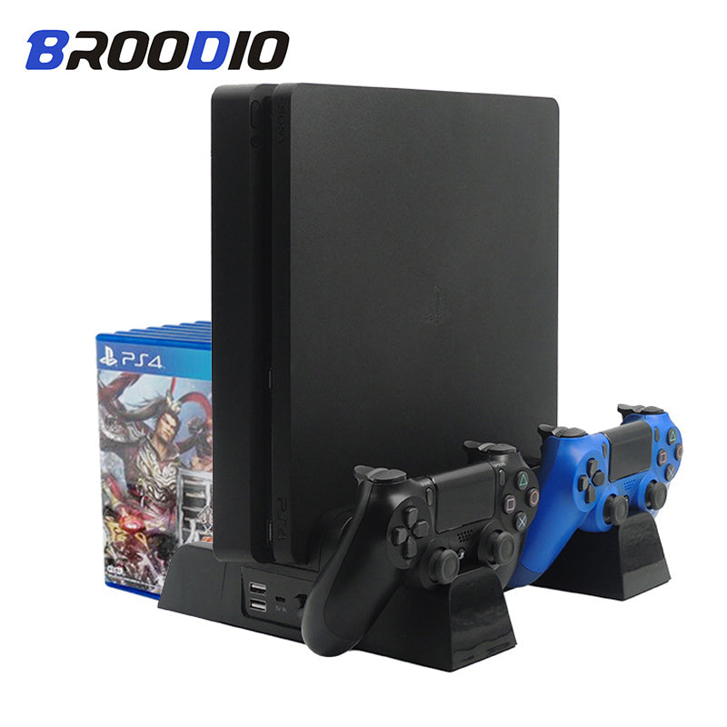 Multifunctional Vertical Console Cooling Stand Controller Charger Charging Station For SONY Playstation 4 PS4/PS4 Slim/PS4 Pro