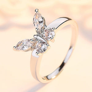 Oriana's Butterfly Crystal Ring