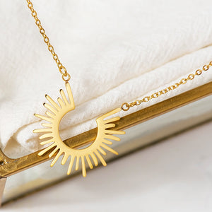 Mary's Half Circle Spiked Necklace