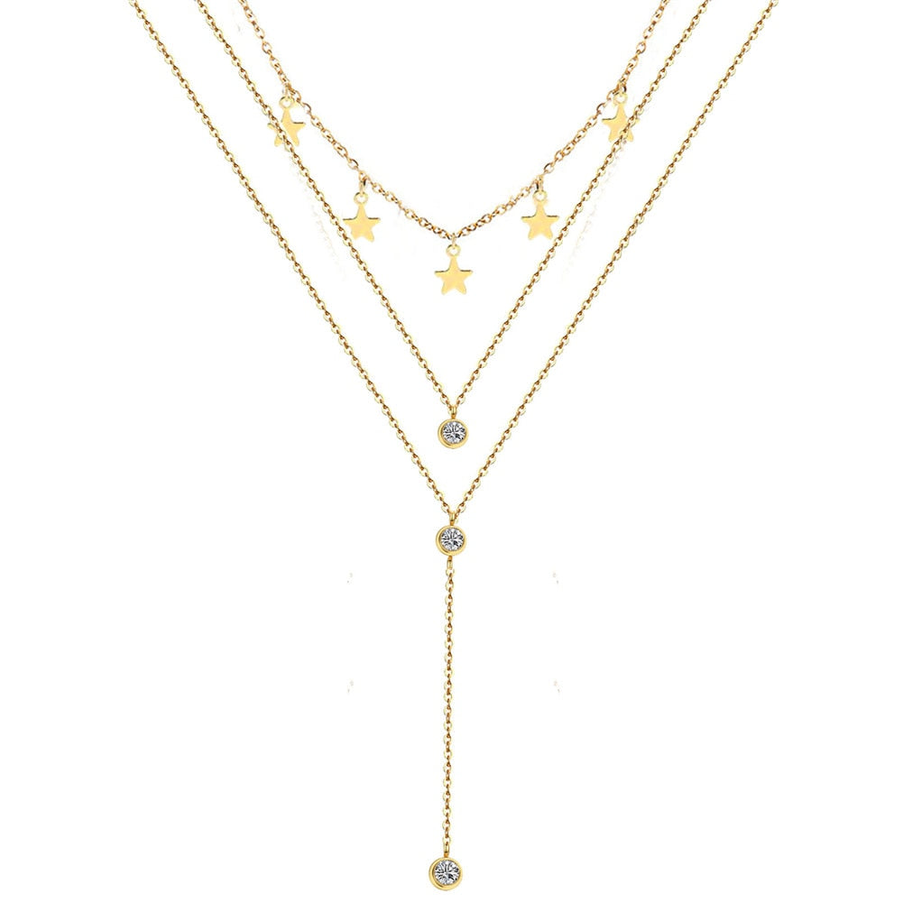 Meredith's Boho Stars Necklace Set