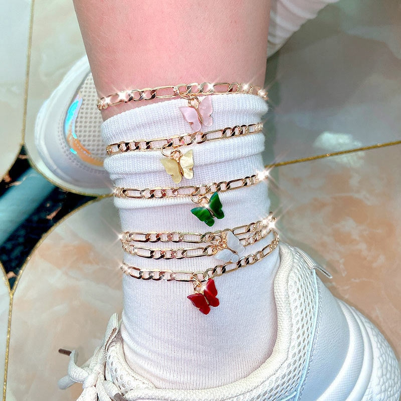 Helen's Fashion Butterfly Anklet