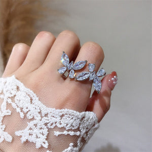 Ellie's Shine Butterfly Ring