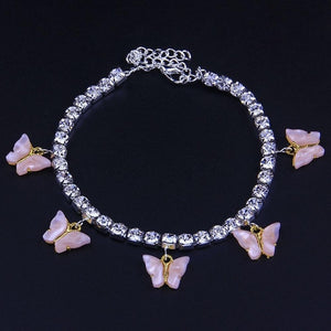 Nina's Shinning Butterfly Anklet