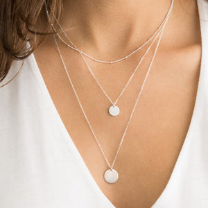 Audrey's Minimalist Pendant Necklace Set