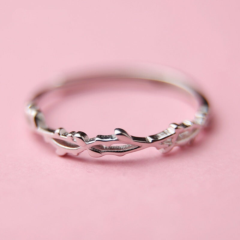 Madalynn's Delicate Silver Ring