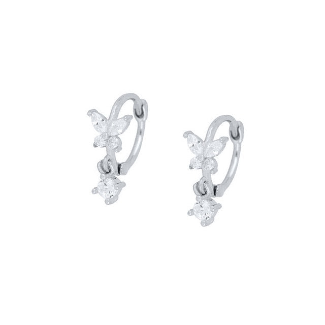 Hadley's Sterling Silver Butterfly Earrings