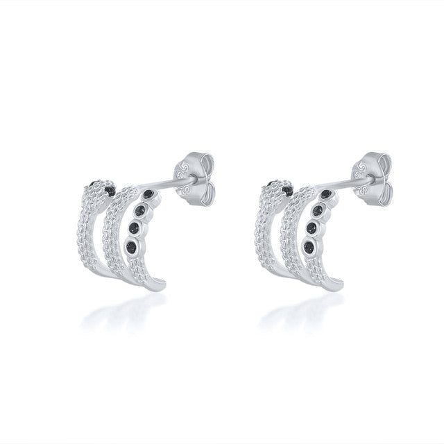 Mackenzie's Sterling Silver Snake Earrings