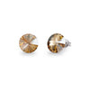 Aros Candy Studs Golden Shadow - Swarovski joyas